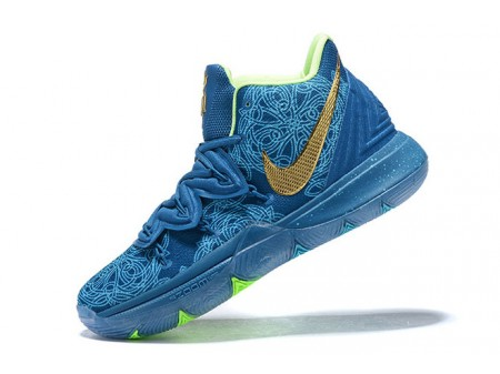 Nike Kyrie 5 Blue/Green-Metallic Gold Men