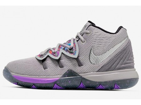 Nike Kyrie 5 'Graffiti' Atmosphere Grey/Metallic Silver AQ2458-001 Men