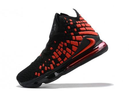 Nike LeBron 17 Black/University Red Men