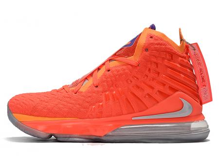 Nike LeBron 17 'Sunset' Team Orange/Metallic Silver Men