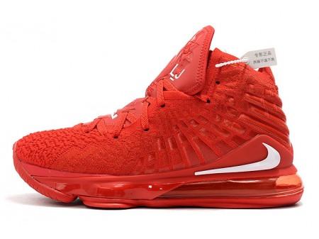 Nike LeBron 17 University Red/White Men Women