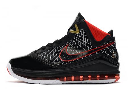 Nike LeBron 7 Black/Varsity Red-White Men