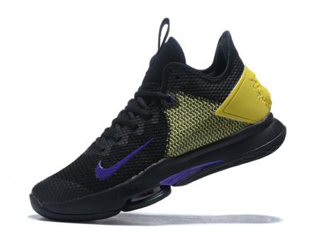 Nike LeBron Witness 4 IV EP Lakers Black/Opti Yellow-Voltage Purple CD0188-004 Men