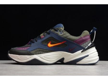 Nike M2K Tekno Midnight Navy/Bordeaux-Sequoia-University Gold AV4789-401 Men Women