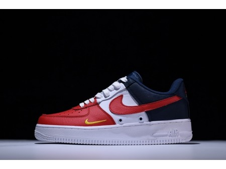 Nike Air Force 1 Low LV8 '4th of July' Mini Swoosh Red Blue White 823511-601 for Men and Women