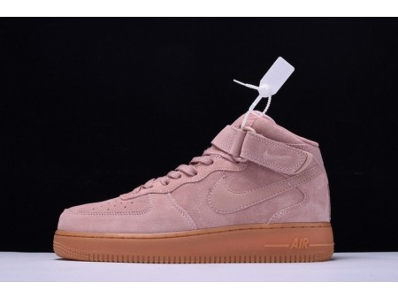 Nike Air Force 1 Mid '07 Suede Particle Pink AA1117-600 for Men and Women