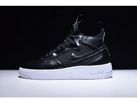 """Nike Air Force 1 Ultraforce Mid """"Black White"""" 864025-001 for Men and Women"""