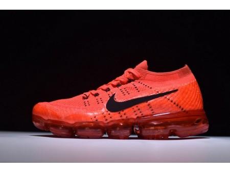 Nike Air Vapormax Flyknit Orange Black 849558-600 for Men