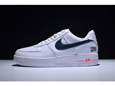 "Soho Nike Air Force 1 ""NYC"" White Orange Blue 315122-222 for Men and Women"