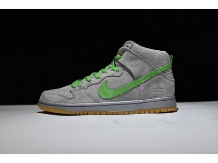 Nike Dunk High Premium Sb Silver Box Suede Gray-Green 313171-039 for Men