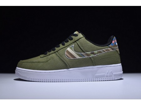 Nike Air Force 1 Ethnic Style Low Army Green 823511-399 for Men and Women