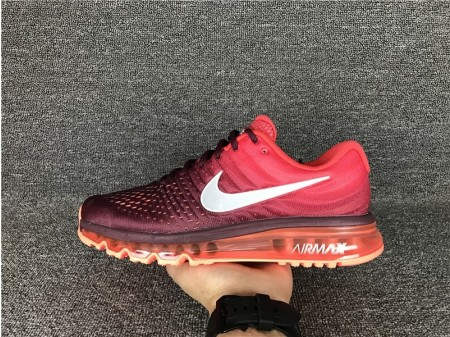 Nike Air Max 2017 Night Maroon White & Gym Red 849559-601 for Men