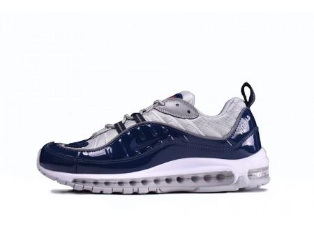 Supreme X Nike Air Max 98 Navy Gray 844694-400 for Men