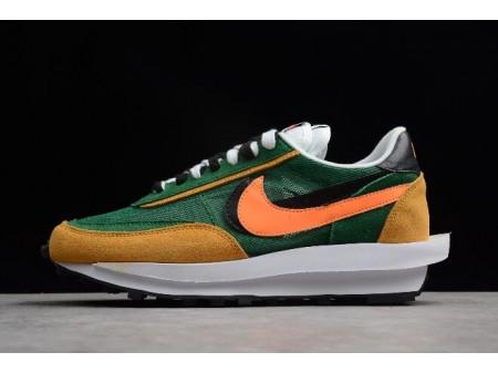 Sacai x Nike LDV Waffle Hybrid Green Yellow Black Orange 884691-300 Men