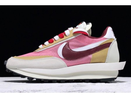 Sacai x Nike LDV Waffle Daybreak Swoosh Pink Grey White Red BV0073-500 Men Women
