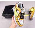 Nike Air Force 1 '07 SE Custom Hand Painting Yellow/White-Black AO9822-100 Men Women