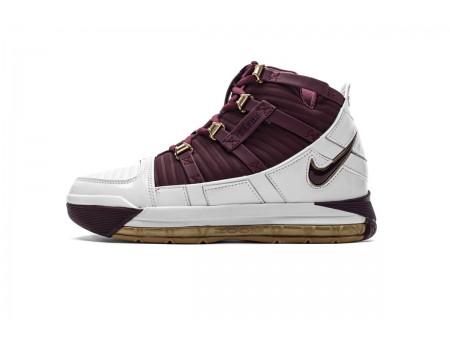 """Nike Zoom Lebron III QS """"Chris The King"""" Blanc/Marron foncé BQ2444-100 Homme"""