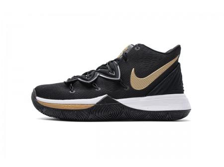 Nike Kyrie 5 EP Noir Métallique Or AO2919 007 Homme