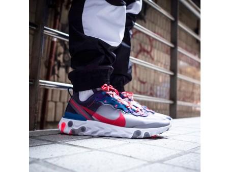 "Nike React Element 87 ""Rouge Orbit"" CJ6897-061 Homme Femme"