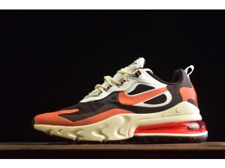 """Nike Air Max 270 React """"Bright Violette"""" Café/Orange/Jaune CT2864-300 Homme et Femme"""