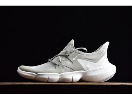 Nike Free Rn 5.0 Low Gris Blanc 2019 AQ1289-002 Homme