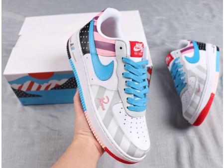 Parra x Nike Custom Air Force 1 Low Bleu/Gris Hommes Femmes AR6786-100