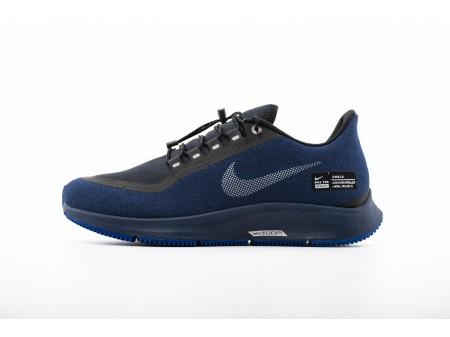 Nike Air Zoom Pegasus 35 Shield Noir Bleu foncé AA1643-003 Homme