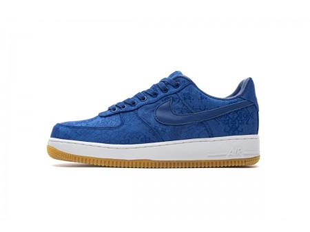 CLOT X Nike Air Force 1 Low PRM Jeu Royal Bleu Silk CJ5290 400 Homme Femme