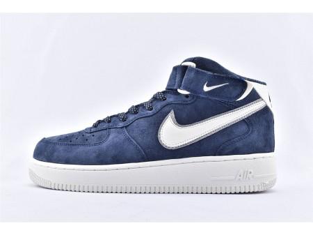 Nike Air Force 1 '07 Mid Suède 3M Bleu Foncé AA1118-007 Hommes Femmes