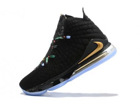 Nike LeBron 17 Noir/Multicolore-métallic dorées Hommes