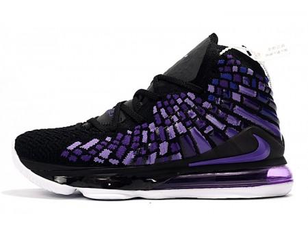 Nike LeBron 17 Noir/Violette-Blanc Hommes Femmes