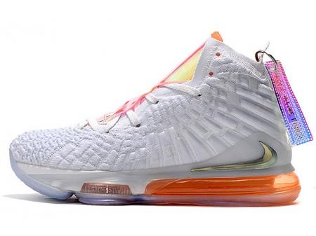 Nike LeBron 17 'Future Air' Blanc/Orange CT3843-100 Homme Femme