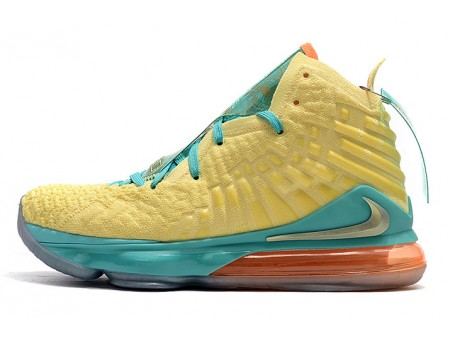 Nike LeBron 17 Jaune/Vert-Orange Homme
