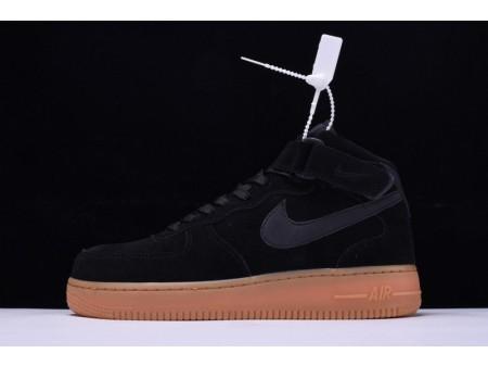 """Nike Air Force 1 Mid '07 """"Suède Noir"""" AA0284-002 pour Homme et Femme"""