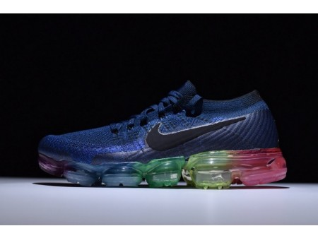 """Nike Air Vapormax Flyknit Bleu foncé Betrue """"Be True"""" 883275-400 pour homme et femme"""