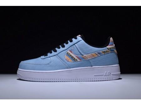 Nike Air Force 1 07 Lv8 Light Armoury Bleu 718152-407 pour Homme et Femme