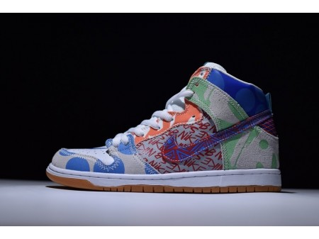 """Nike SB What The Dunk High """"Graffiti"""" Iced Jade 918321-381 pour Homme et Femme"""