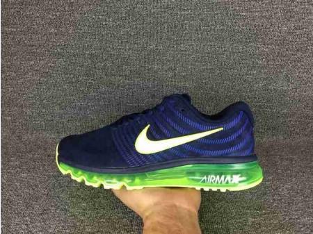 Nike Air Max 2017 Bleu foncé Vert 849559-600 pour homme