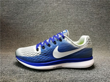 Nike Air Zoom Pegasus 34 Bleu/Gris 880555-004 pour Homme