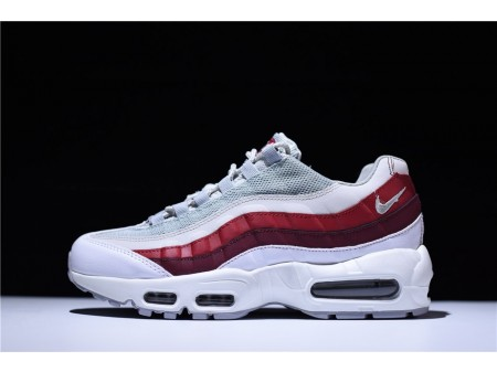 Nike Air Max 95 Loup Gris & Team Rouge 749766-103 pour Homme