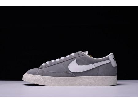 Nike Blazer Low Premium Rétro Douce Gris/Blanc 488060-010 pour Homme et Femme