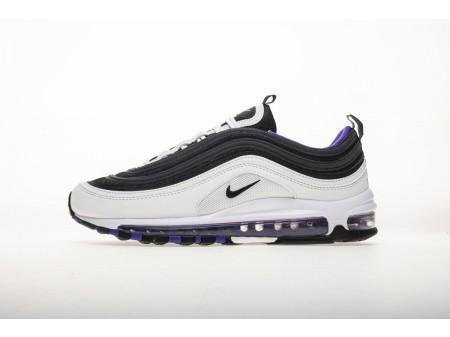 Nike Air Max 97 Weiß Schwarz Persin Violett 921522 102 Herren und Damen