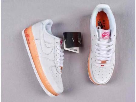 Nike Air Force 1 Low AF1 Upstep Weiß/Orange Herren Damen 596728-040