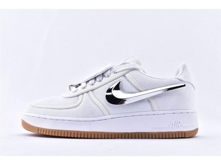 Nike Air Force 1 Low Travis Scott Weißes Segel AQ4211-100 Herren Damen