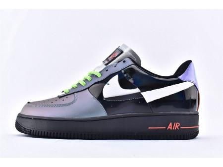 Nike Air Force 1 Low '07 Joker Schwarz Hässliche Farbunterbrechung Fluoreszenz Herren Damen