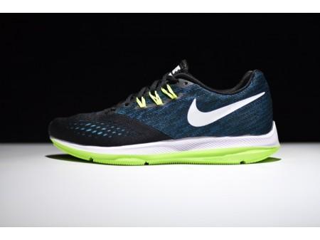 Nike Zoom Winflo 4 Schwarz/Blau Pfau 898466-003 Herren