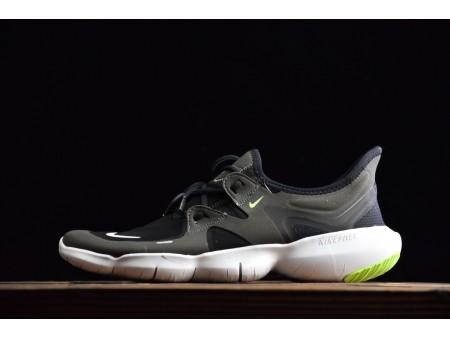 Nike Free Rn 5.0 Schwarz/Anthrazit/Volt/Weiß 2019 AQ1289-003 Herren