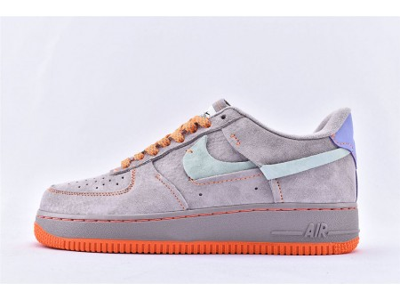 Nike Air Force 1 Low '07 LX Grau Orange Blaugrün Tönung CT7358-600 Herren Damen