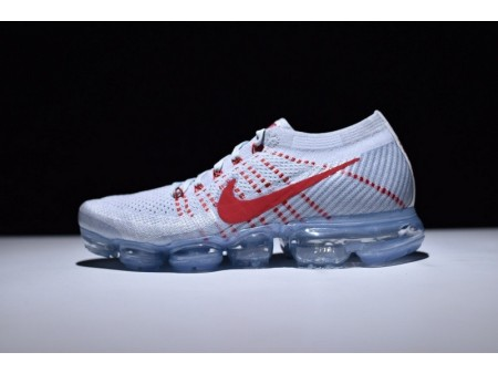 Nike Air Vapormax Flyknit OG Pure Platinum Universität Rot 849558-006 für Herren