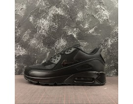 Nike Air Max 90 Triple Negras 537384-090 Hombres Mujeres